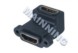 Panel Mount HDMI 19P Right Angle Adaptor