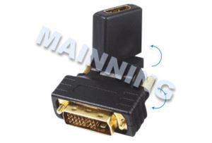 Adaptor DVI(24+1)Male To HDMI Female Rotating 270°