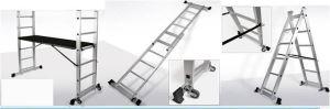 EN131 Adjustable Height Scaffolding Ladder