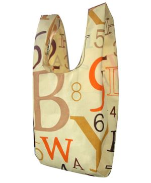 Colorful English Letters Printed Beach Bag