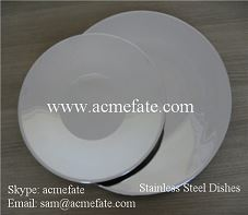 Oval Chinese stainless steel dishes/stainless steel food plate/stainless steel dinner plate & dishes