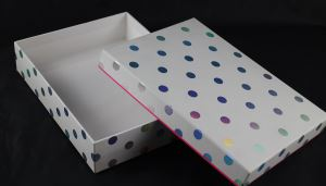 White Cardboard Base And Lid Box For Shoe