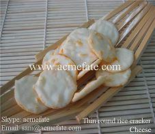 Thin Round Rice Crackers Crisp Rice Crackers Grain Snacks in stock