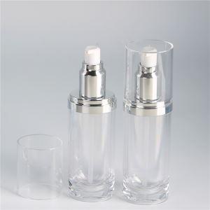 Empty Oval Shape Clear Cosmetic Serum Bottle