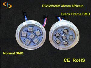 24V 38mm Professional RGB LED Point Light Pixel  6 LEDs IP67 for amusement