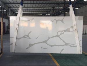 V110 Calacatta Quartz Stone New Type Stylish Vein Quartz Slabs