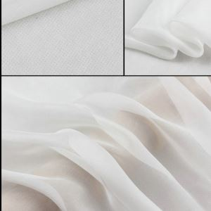 Silk Chiffon Fabric 100% pure silk for summer scarf and silk dress thin fabric