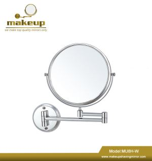 MU8H-W Light Shaving Mirror,wall mounted 10X magnifying led makeup mirror with low price