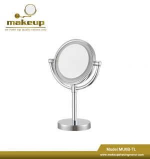 MU6B-TL(L) Round Glass Luxury Cosmetic Shaving LED Makeup Mirror