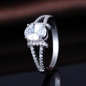 Sterling Silver Cubic Zirconia Micro Pave Ring