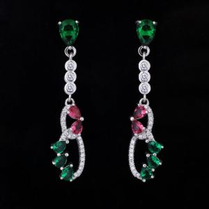 Silver 925 Diamond Elegant Earrings Jewelry