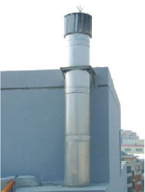YCA Series of Prefabricated Double-layer Stainless Steel Chimney