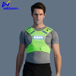 2017 New Design Reflective LED Sports Vest Windproof LED Adventural Sports Vest Fashionable Outfits Running Vest