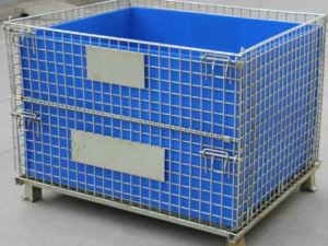 Hollow Plate Storage Cage for Little Components with PVC Sheets Inside