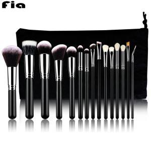 Wholesale Cosmetic Brush Set Professional Private Label 15pcs Black Makeup Brush Set