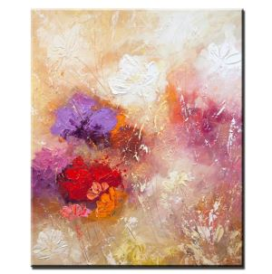 Original Modern Handpainted Abstract Flower Painting Oils