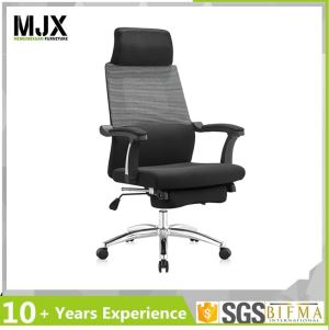 Fabric Padded Seat Executive Ergonomic Sleeping Office Chair With Adjustable Footrest