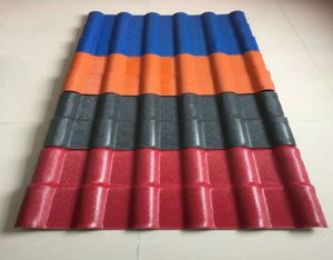 China Factory Supply Synthetic Resin Tile Type Single Layer, Plastic Heat Insulation Roof Tile/Corrugated Plastic Roof Sheet/ASA Plastic Roof Tiles