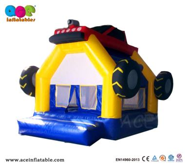 Commercial Grade Inflatable Car Bouncy House Tire Theme Castle