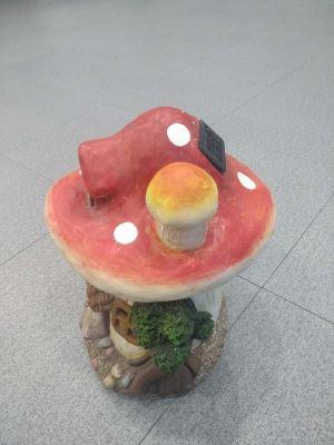 Solar Mushroom House Lights