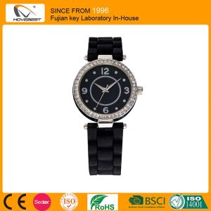 black silicone band wrist watch