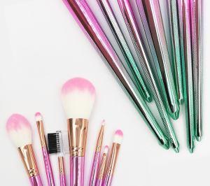 Colorful Plastic Handle Nylon Hair Makeup Brushes Set
