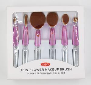 New Oval Makeup Brush Set