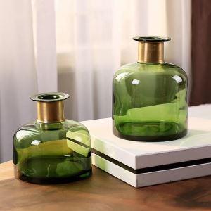 Emerald Green Fine Glass Vase