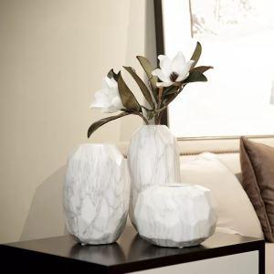 White Marble Ceramic Vase