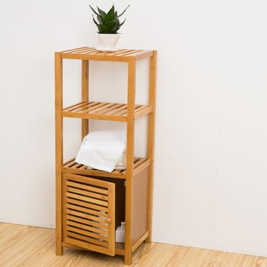 Bamboo Bathroom Storage Racks