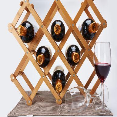 Foldable Bamboo Wine Racks