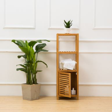 Natural Bamboo Bathroom Racks