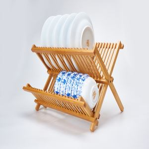 Natural Bamboo Folding Dish Racks